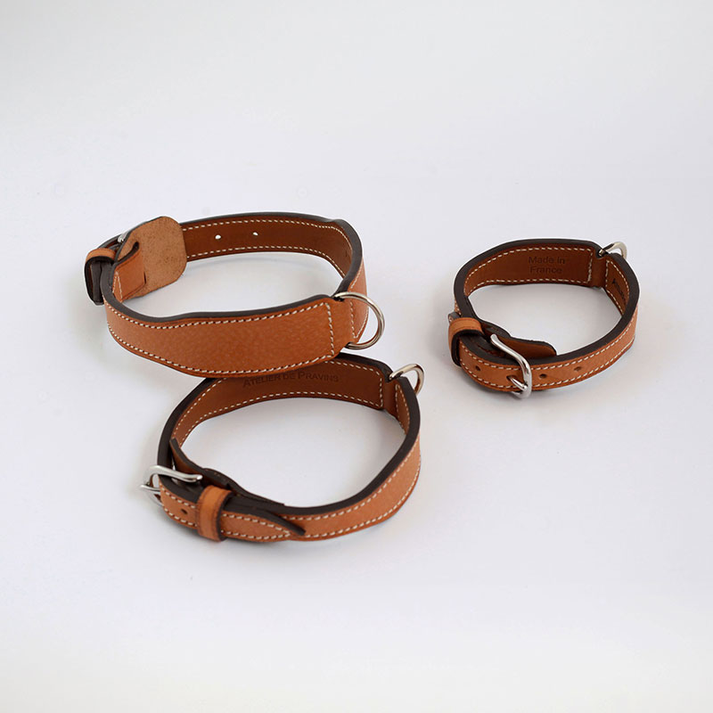 """Elegance in Countryside"" model Dog collar + leash"