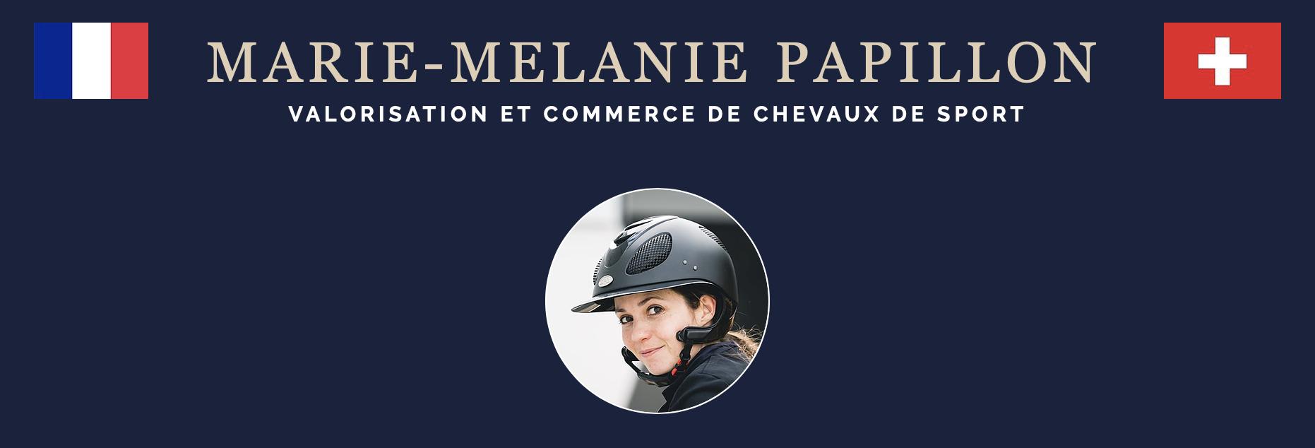 Marie Mélanie PAPILLON – Valorisation et commerce de chevaux de sport